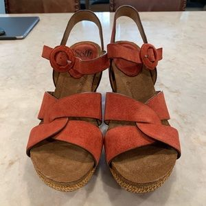 Sofft suede wedge sandal size 9M